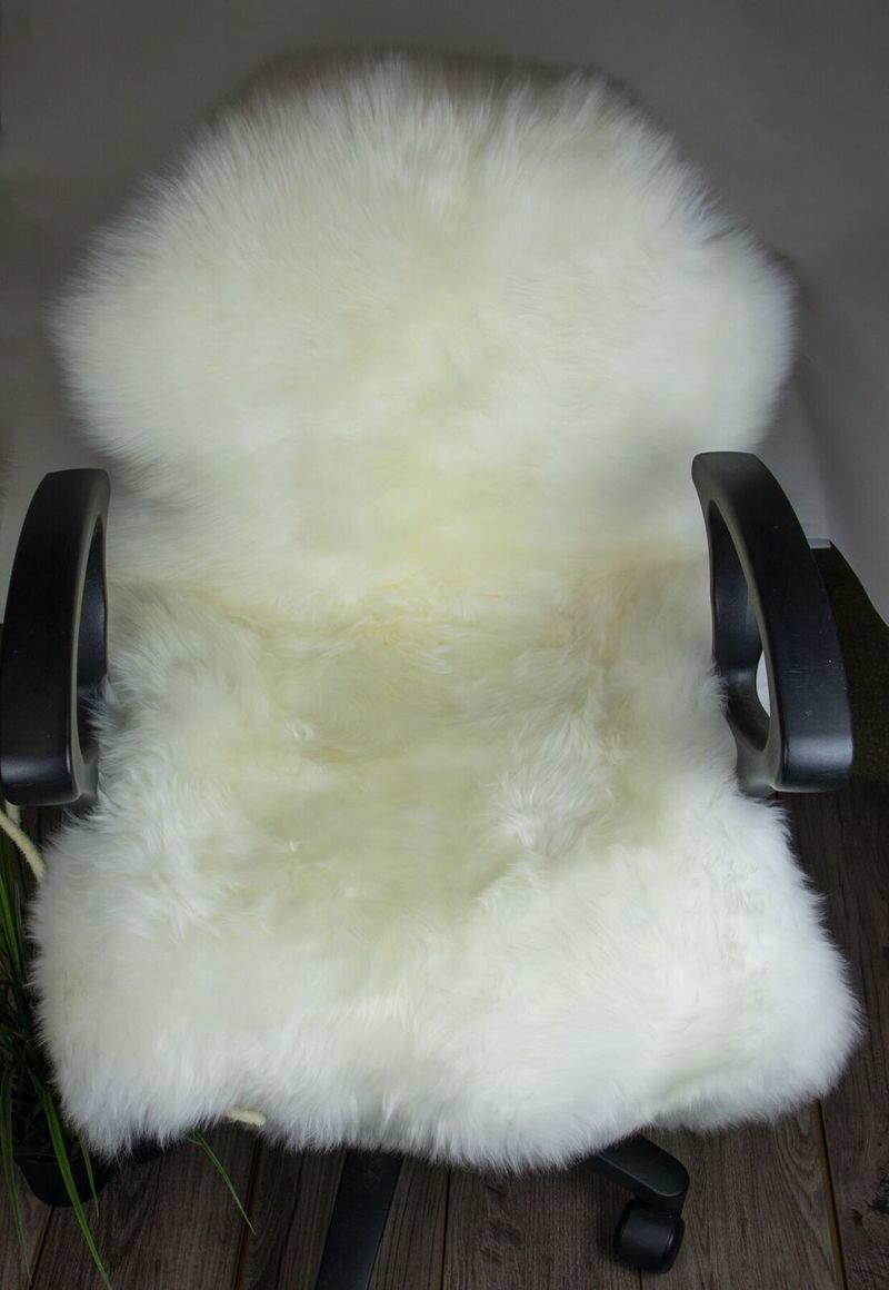 Single Long Wool Rugs 95cm Natural Ivory