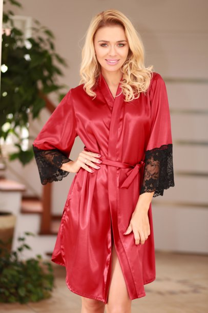 www.cocosa.co.uk — Kalimo Marbella Dressing-Gown Claret