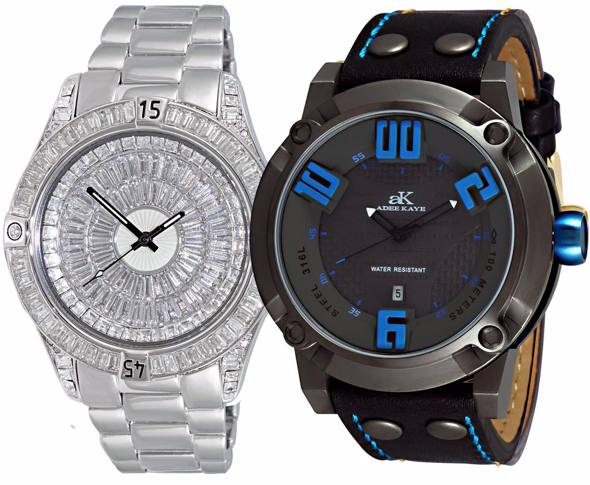 f07d33d036970 Mens Mop Crystal Rotating Bezel Watch And Mens Sporty 10 Atm Sports Watch