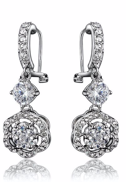 3d814f666092f BuyInvite | Bohemian White Gold Plated Earrings