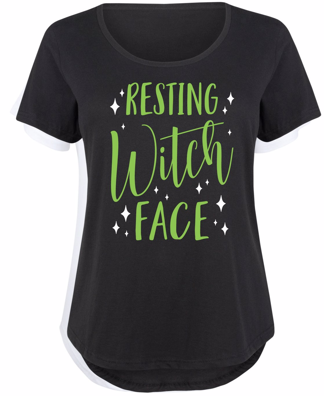 83ab44d5263 Preview with Zoom. Air Waves. Resting Witch Face Maternity Plus Size Scoop  Neck Tee Black