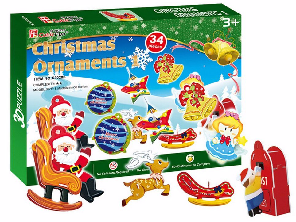 Funny Christmas Ornaments 3D Puzzle