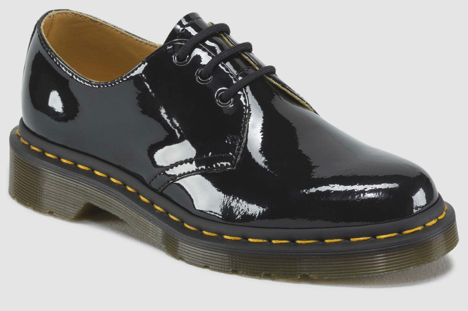 1461 Patent 3 Eye Shoes Genuine Leather Ladies Womens Shiny Gloss