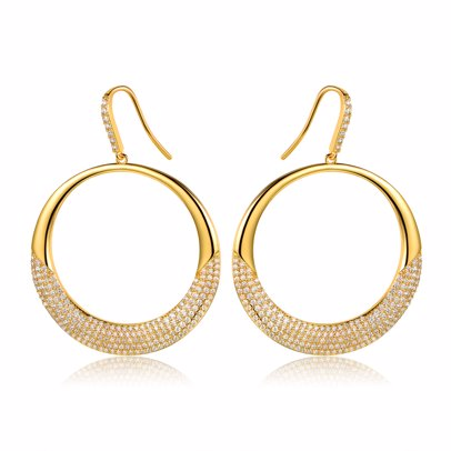 f5323c1cc BuyInvite   Jewellery Palace Barzel Gold Drop Orb Earrings Made with