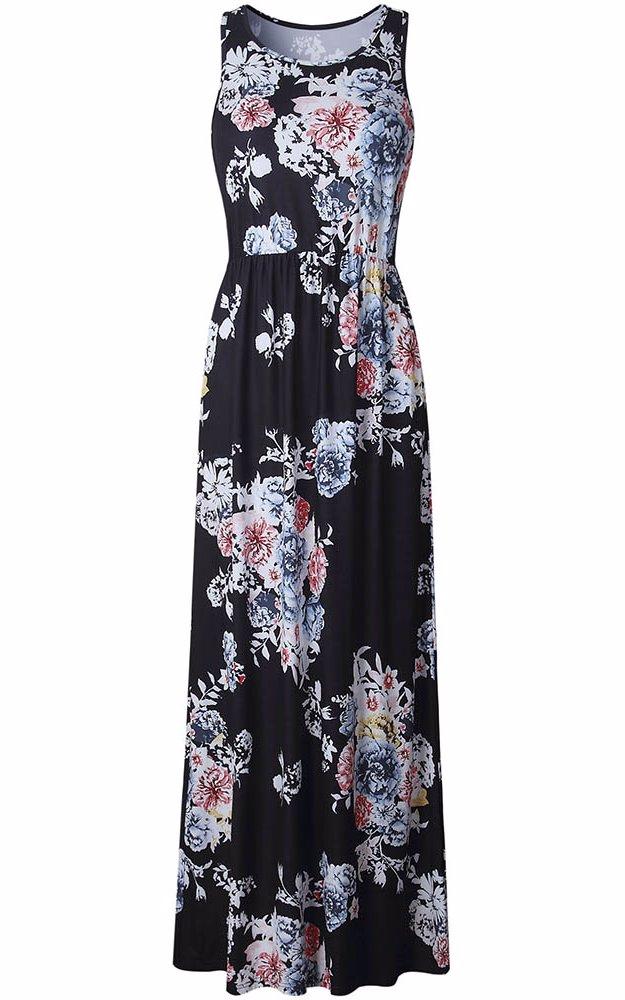 7e4a01dc3bb16 Maxi Dress Floral Print Black