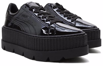 uk availability 6eb00 6644d Womens Pointy Creepers Patent Puma Black