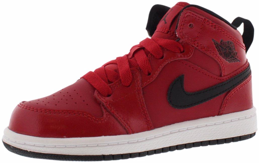 size 40 6051c 27f12 Jordan Air Jordan 1 Mid Basketball Preschool Boy's Shoes1.5