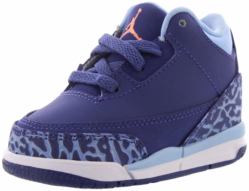 uk availability 97fd6 8cd64 Retro 3 Basketball Shoes Dark Purple Dust/Atomic Pink/Blue