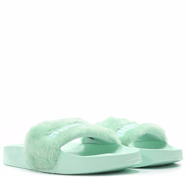 567a7cb21316a5 This product is not available. Preview with Zoom. Loading... Puma. Womens  Fur Slide Sandals Bay Puma Silver