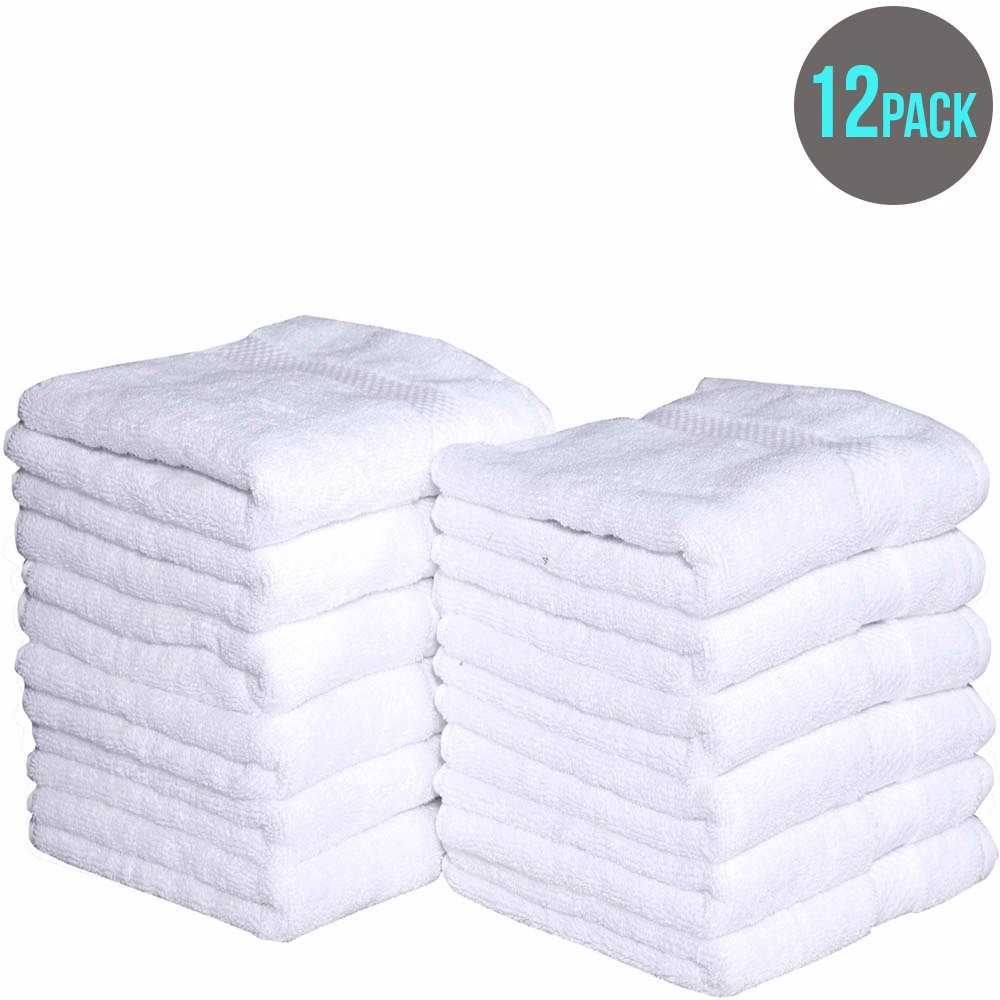Hand Towels 100 Cotton Combed 12 Pack White Preview With Zoom