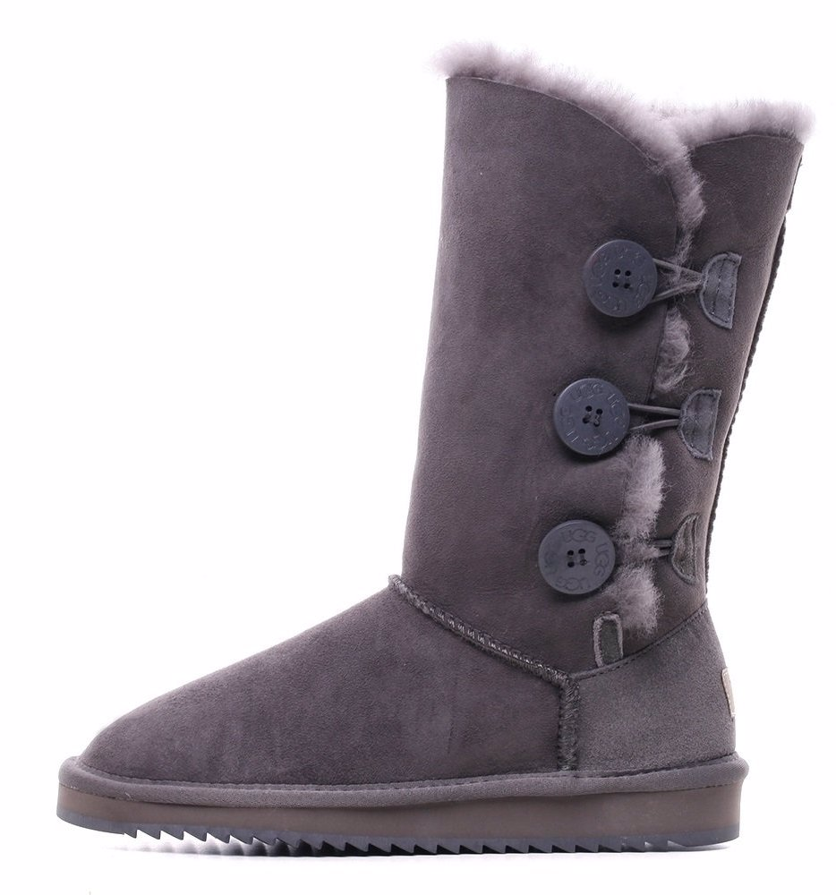 ab5c2a0db03 BuyInvite | Oz Natives UGG Grey Classic Tall Boot with Three Buttons