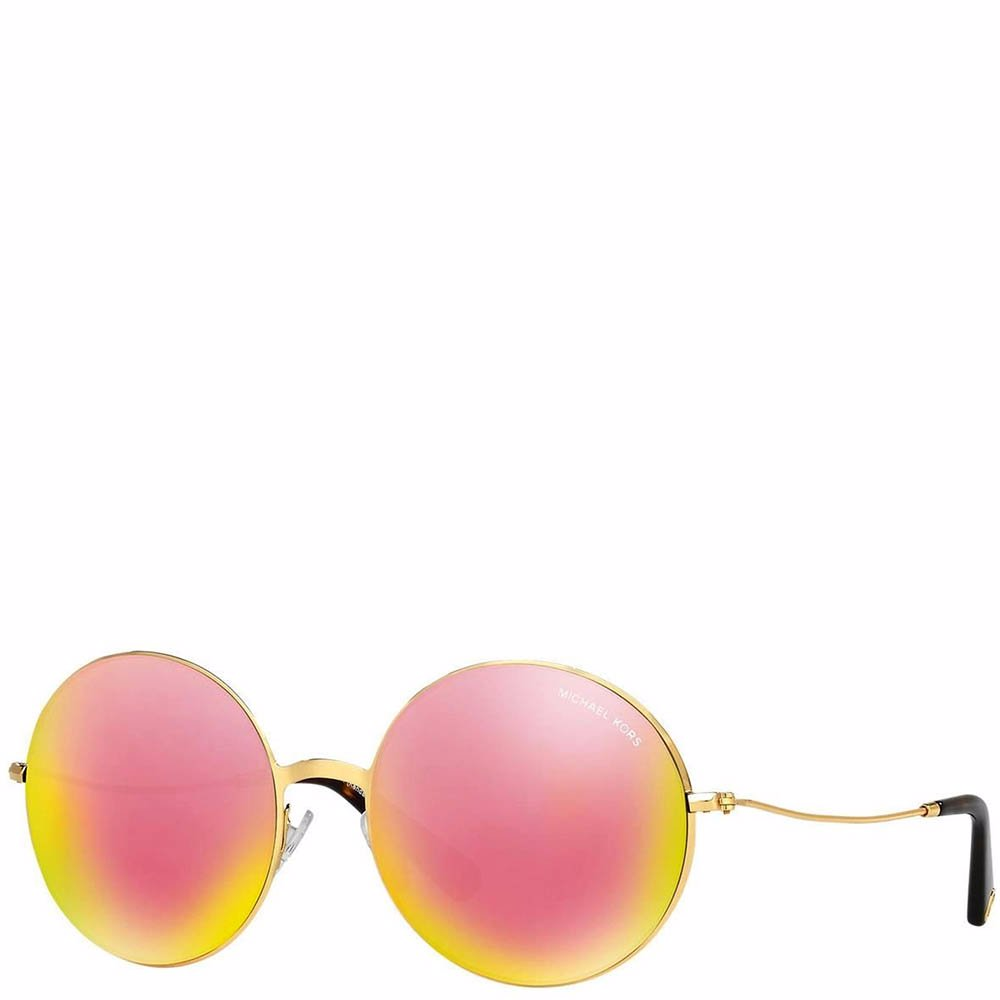 12e71843a7 Preview with Zoom. Michael Kors. Gold Havana Metal Frame Sunglasses
