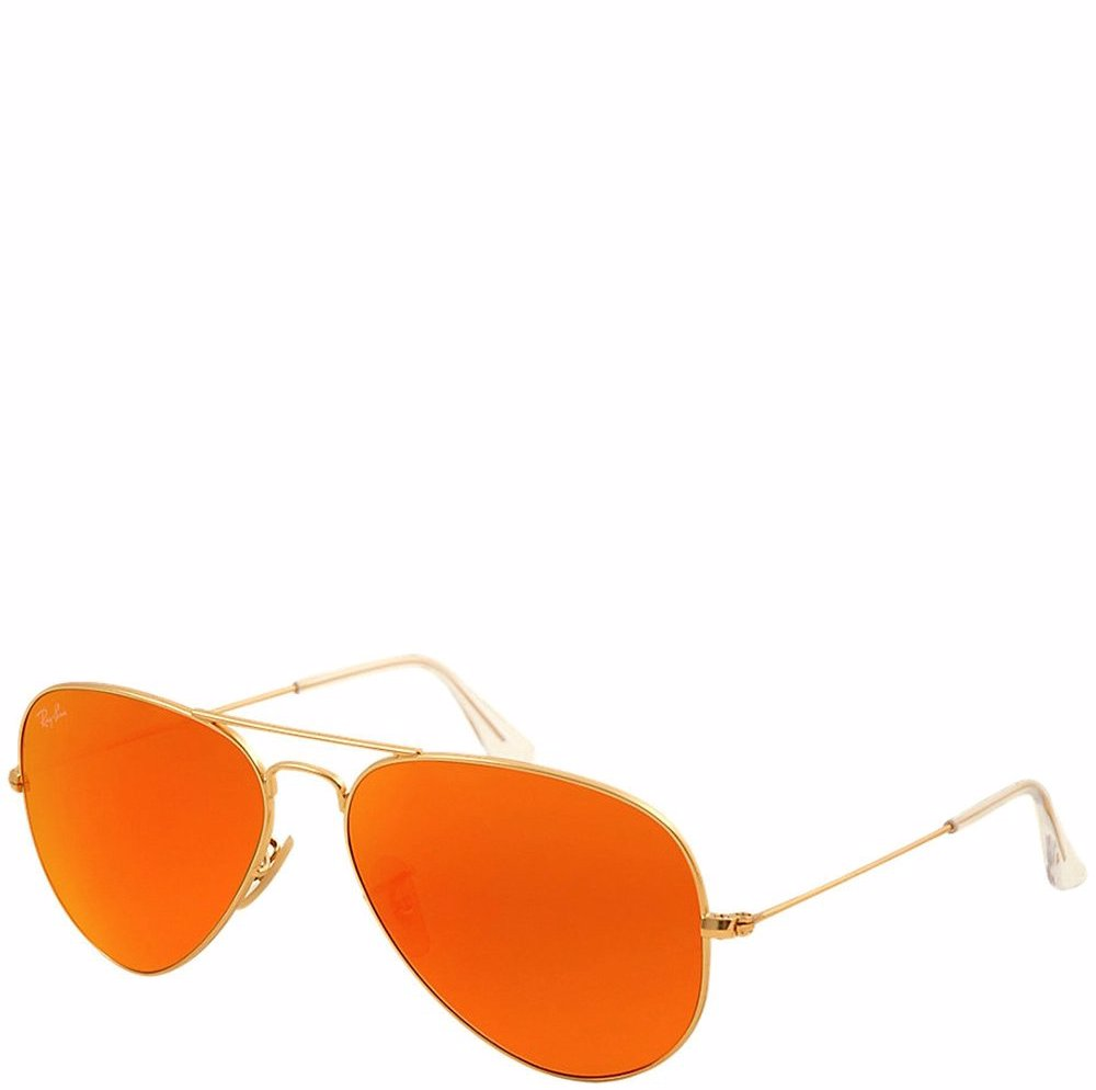 7938b353b95a This product is not available. Preview with Zoom. Ray-Ban. Aviator Brown  Mirror Orange Lens Sunglasses ...