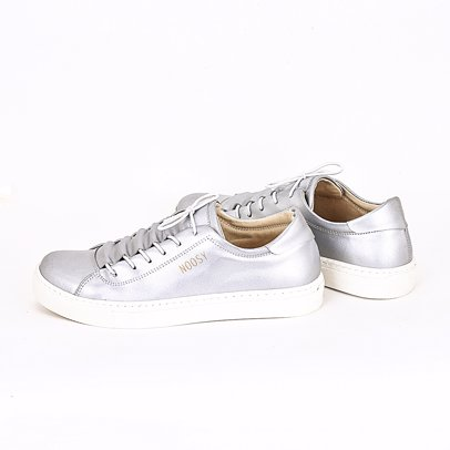 Womens Handmade Vegan Sneakers Nsy-1322 Silver