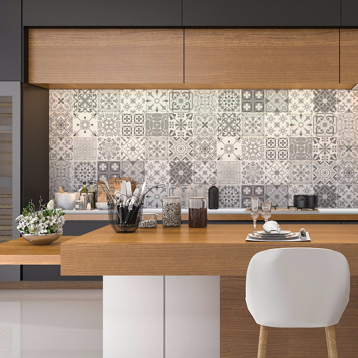 Ambiance Wall Stickers www.ozsale.au — ambiance 24 wall stickers cement tiles shade of