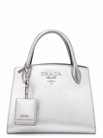 f8776860e4f5 www.mysale.ph — PRADA Prada Saffiano Cuir City Calf Monochrome Bag 26cm Top  Handle