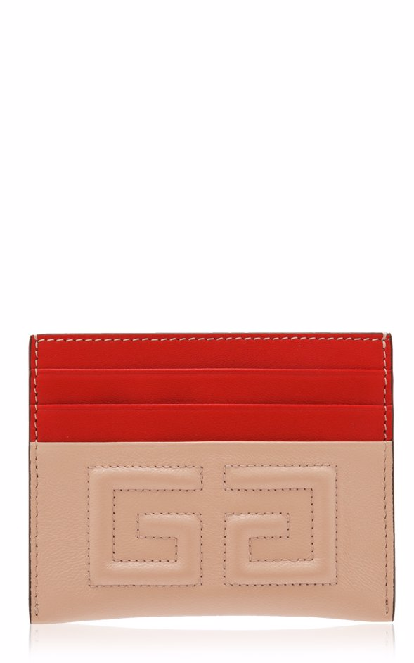 e794b5939 Givenchy 2G Two Tone Leather Card Case