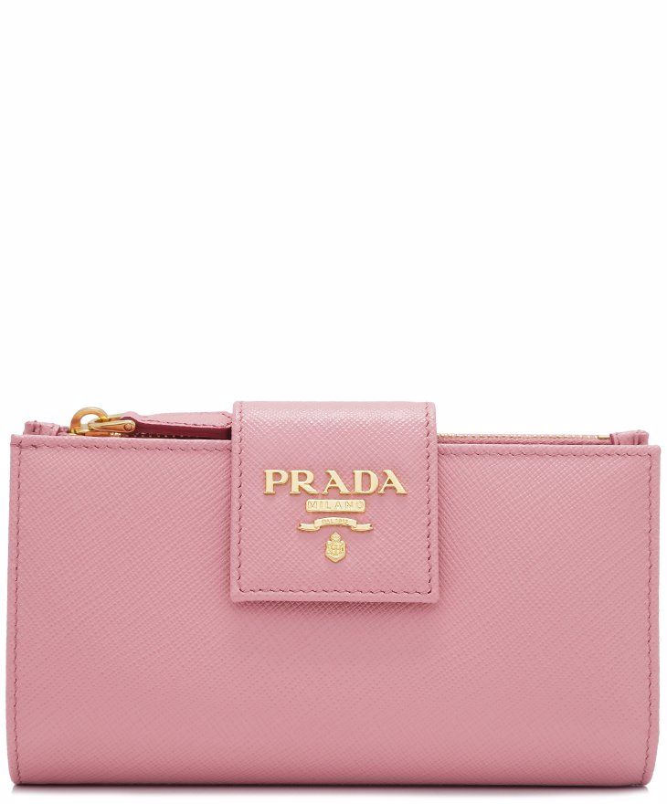 5a1d7b5fe819be Preview with Zoom. PRADA. Prada Saffiano Metal Medium Flap Wallet