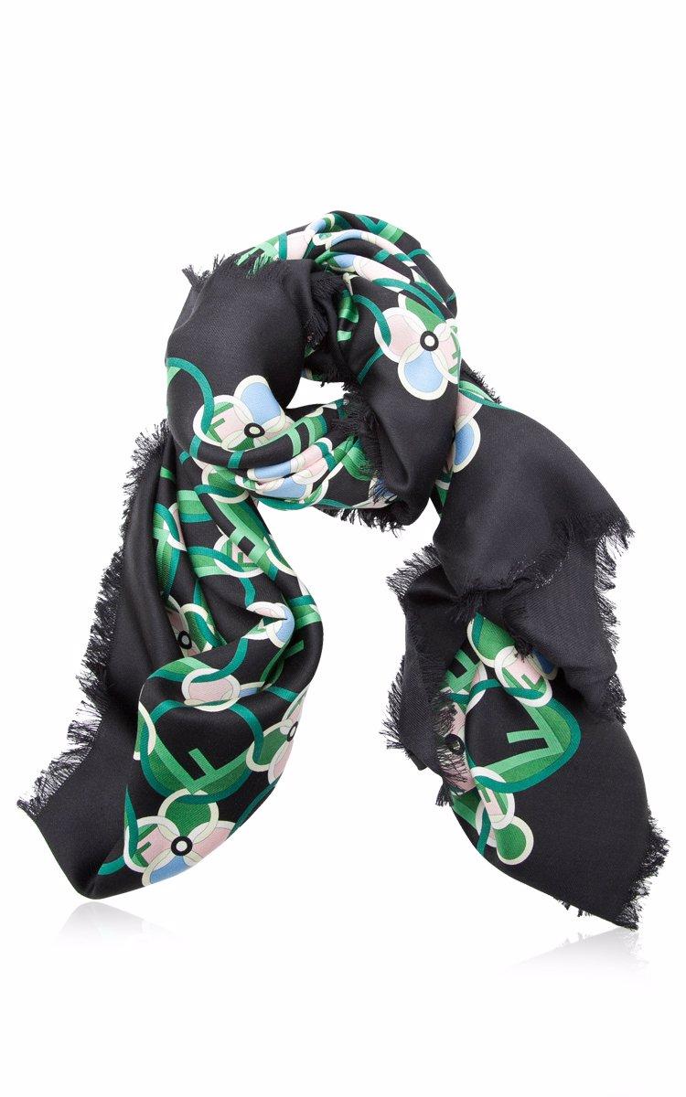 64a4d7c59f Fendi F is Fendi Silk And Wool Shawl Scarves