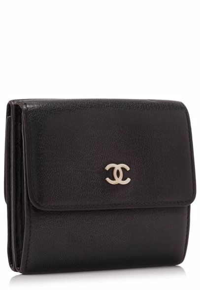 63e89a3b4403 MYSALE | CHANEL Pre-Owned Chanel Leather Short Wallet