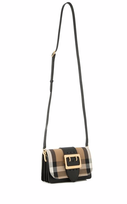 63a036659304 www.mysale.ph — BURBERRY Burberry House Check Embossed Bridle Small Buckle  Shoulder Crossbody