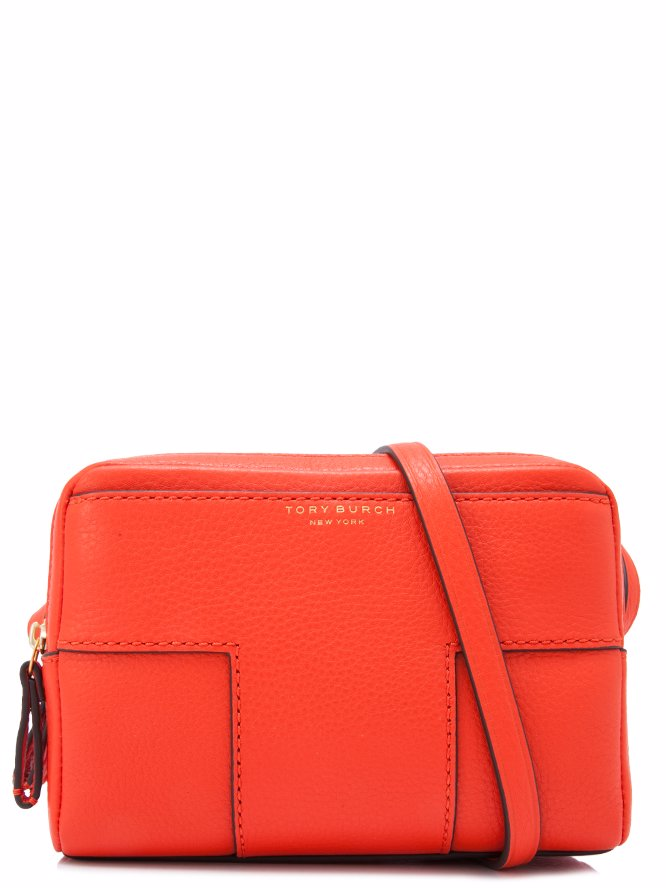 Preview with Zoom. TORY BURCH. Tory Burch Block T-Pebbled Double-Zip  Crossbody Bag Sling