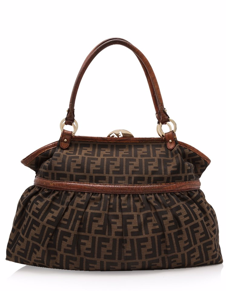 4ed921ea2840 Preview with Zoom. FENDI. Pre-Owned Fendi Zucca Top Shoulder Bag