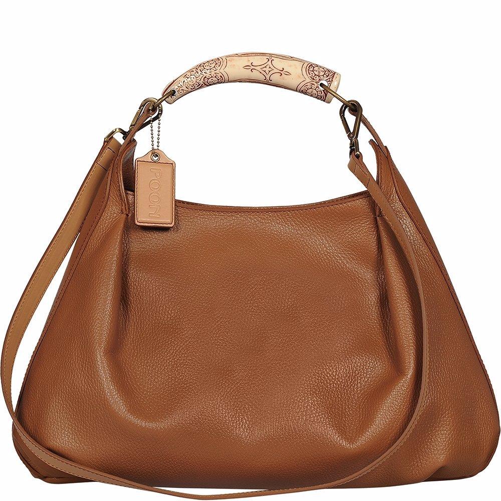 6db1a927048 DealsDirect   Poon Switzerland Leather Handbag 11993 01 Cognac & Beige
