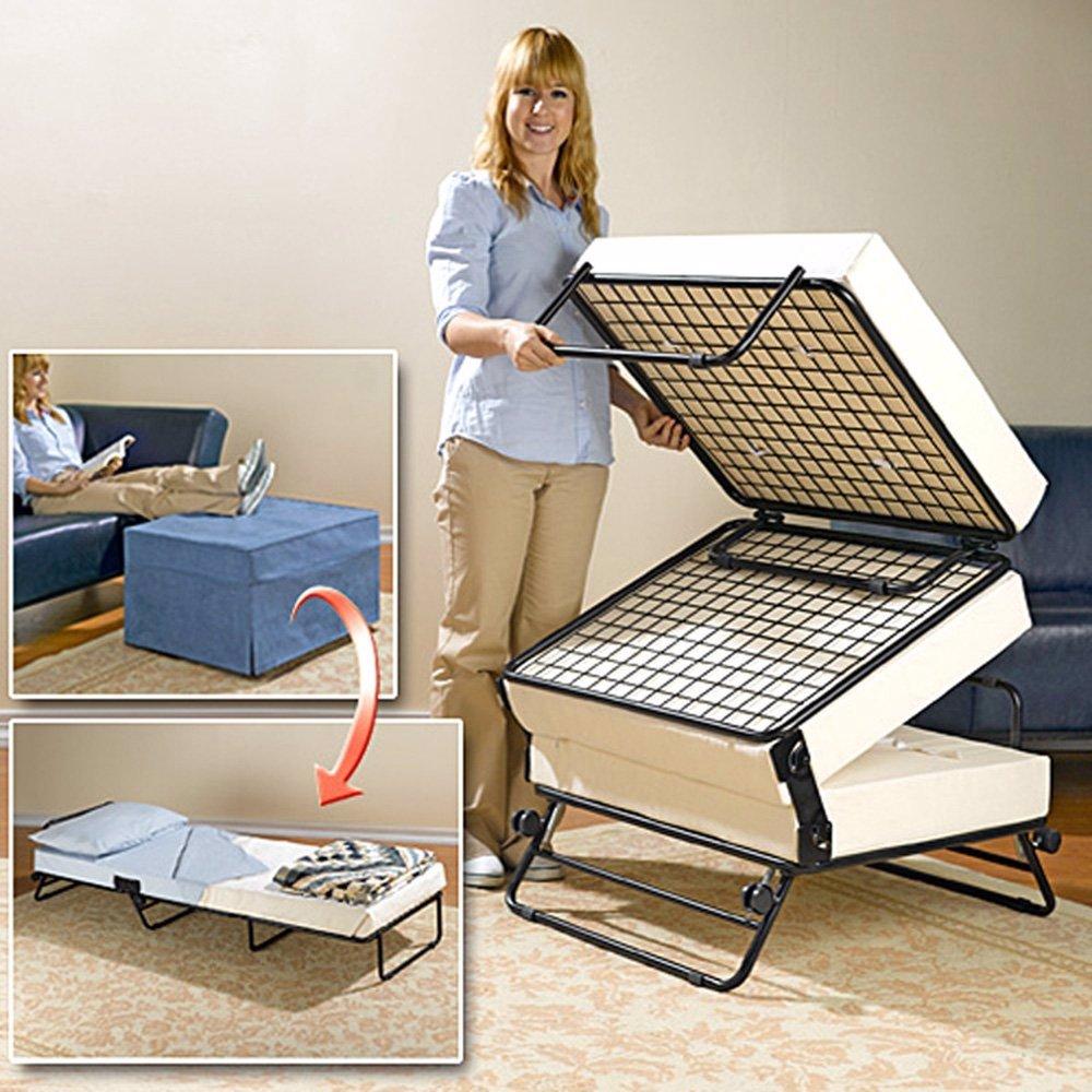 Peachy Dealsdirect Luxury Bamboo Storage Ottoman Folding Bed Brown Inzonedesignstudio Interior Chair Design Inzonedesignstudiocom
