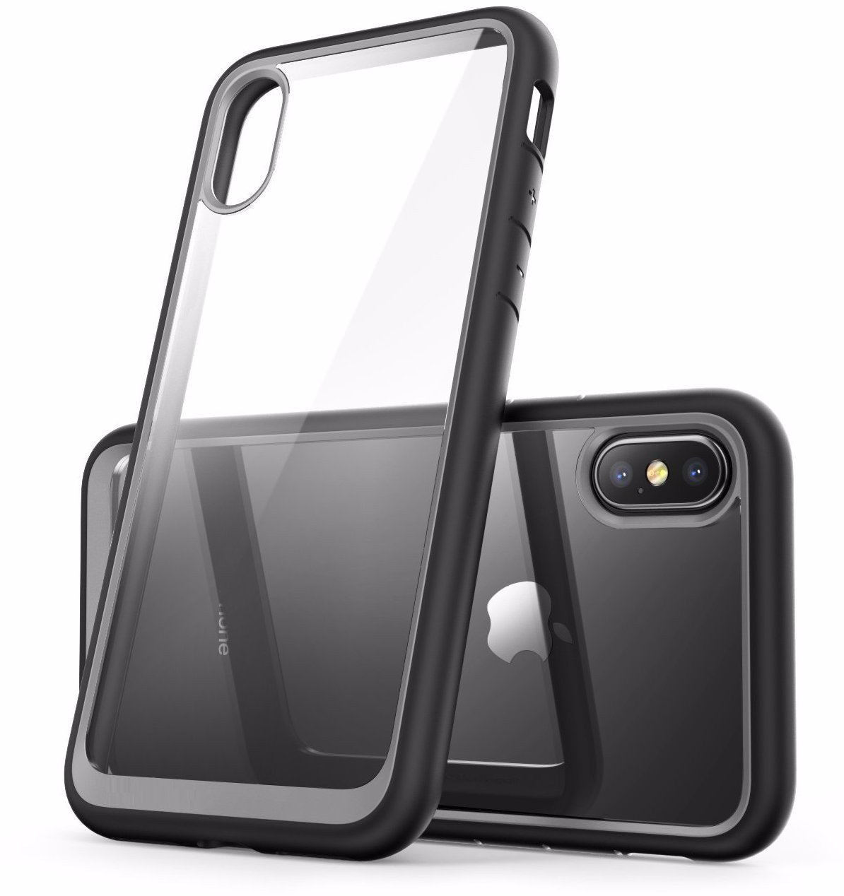 Protective Bumper Clear Phone Case for Apple iPhone iPhone 8 Plus / 7 Plus  - Black
