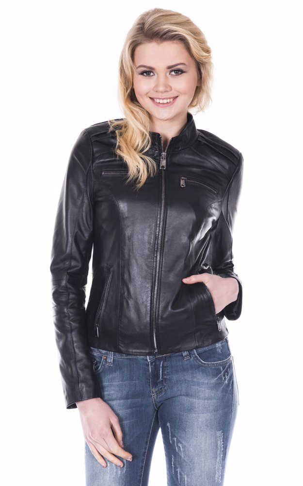 432f88c76 Black Women'S Leather Jacket