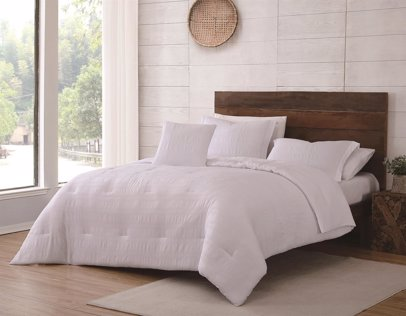 Willow 4 Pc  King Comforter Set White