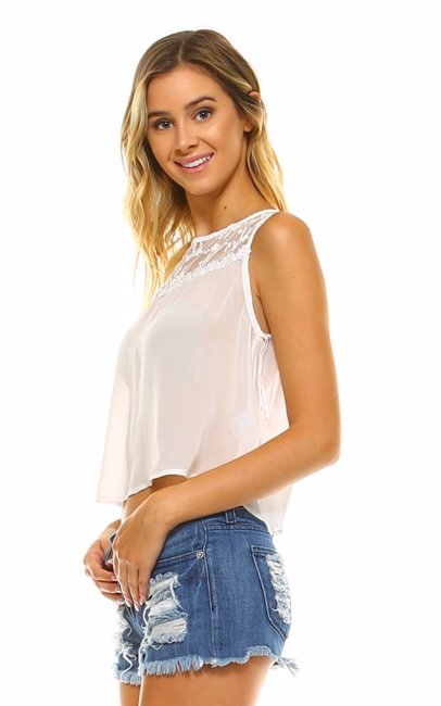 1c33ac3314aca www.mysale.ph — Marcelle Margaux Crop Sheer Lace Tank Top Off White