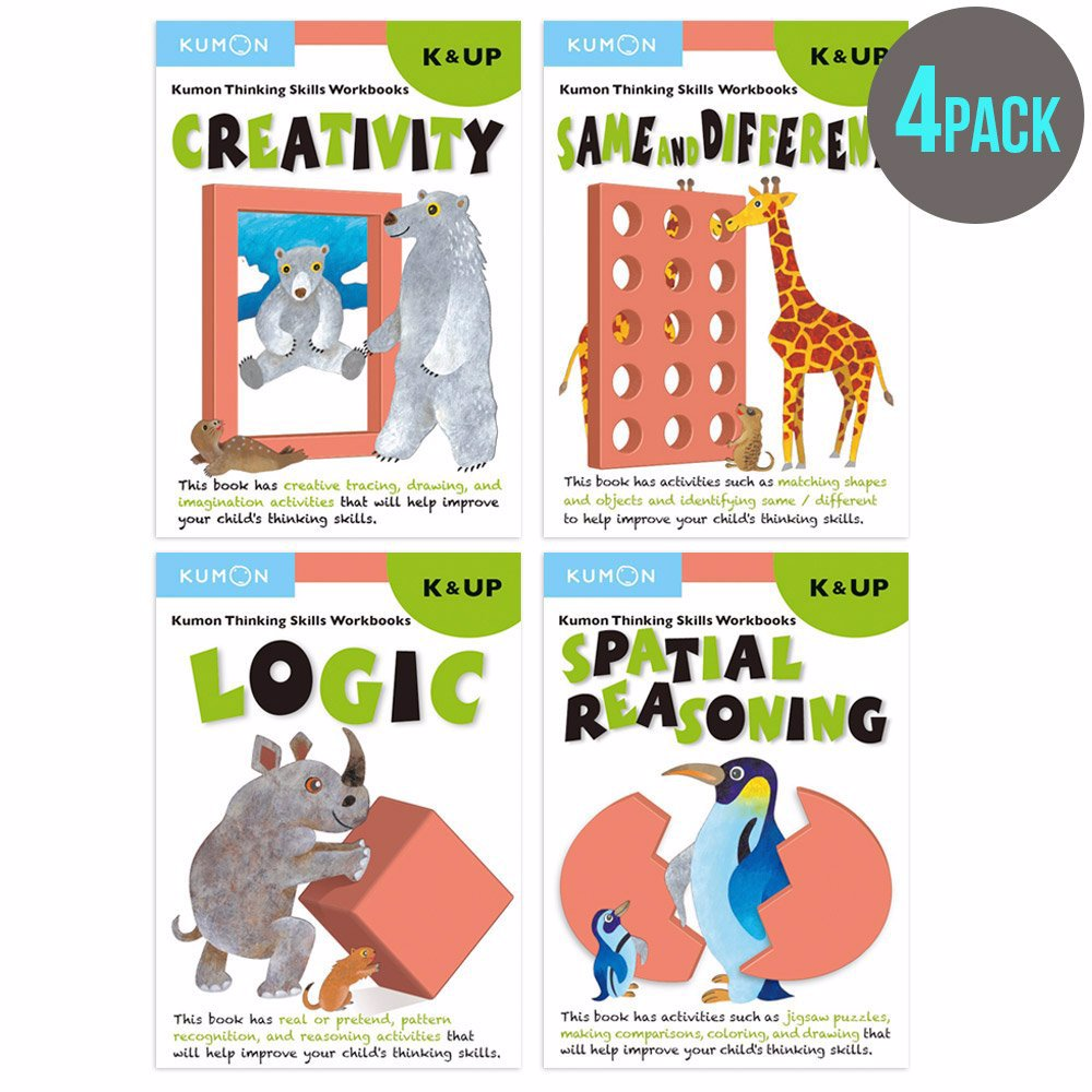 Workbooks developing spatial thinking workbook : www.dealsdirect.com.au — Kumon Publishing Kindergarten Spatial ...